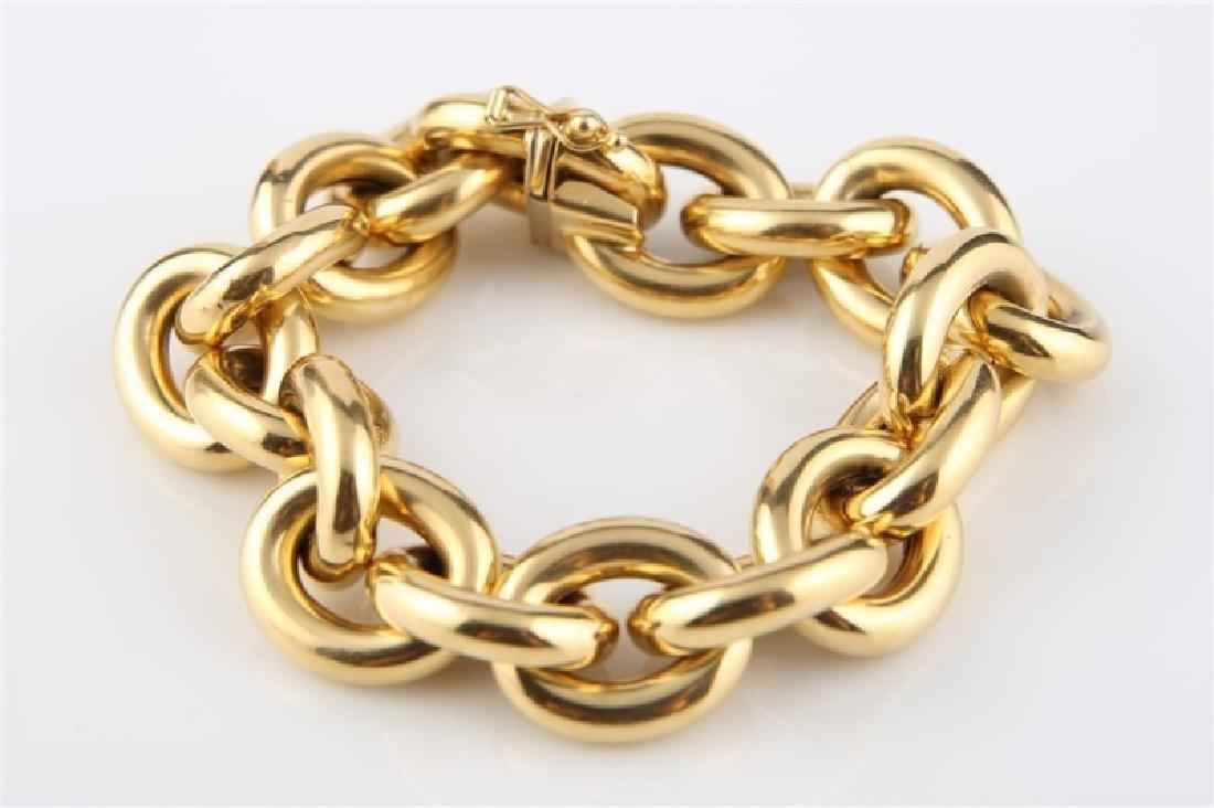 18kt Yellow Gold Italian Lady's Link Bracelet