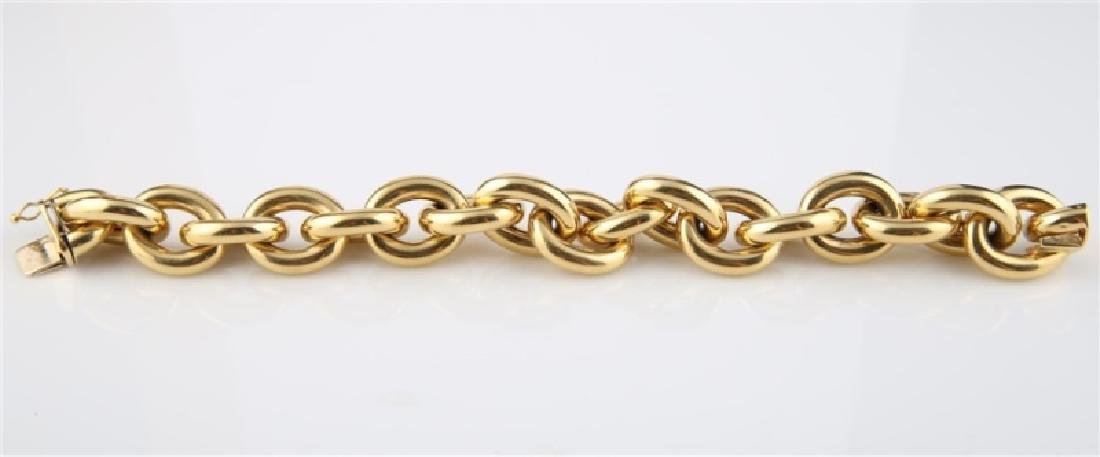 18kt Yellow Gold Italian Lady's Link Bracelet - 3