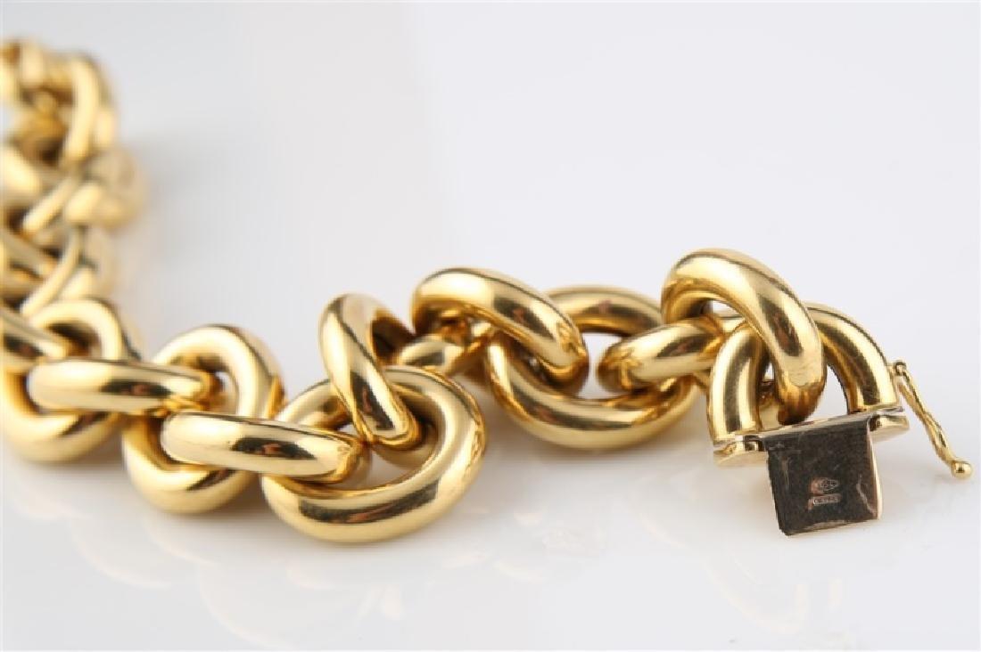 18kt Yellow Gold Italian Lady's Link Bracelet - 4