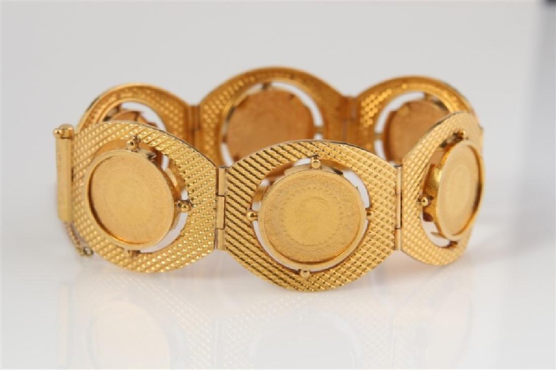 22k Yellow Gold & Turkey Kurush Coin Bracelet - 2