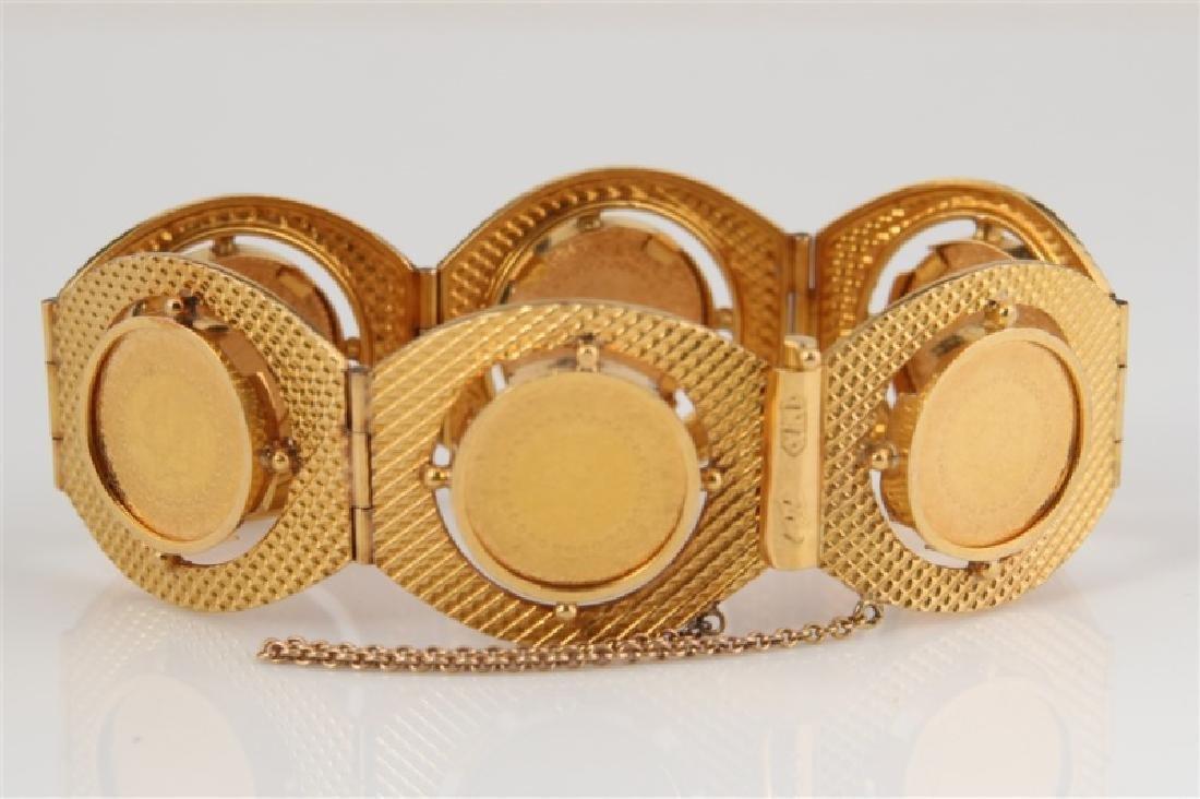 22k Yellow Gold & Turkey Kurush Coin Bracelet - 3