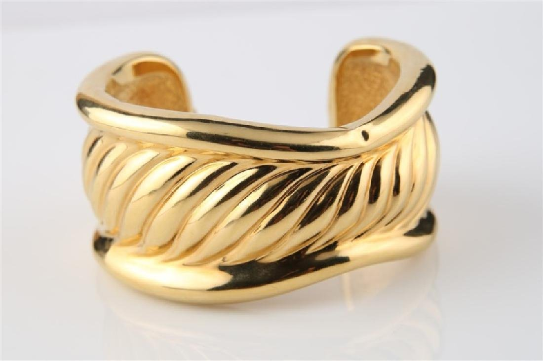 14kt Yellow Gold Hollow Cuff Bracelet