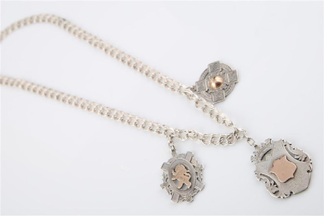 12kt Gold-Filled Charm Necklace with Three Charms