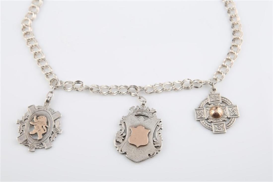 12kt Gold-Filled Charm Necklace with Three Charms - 2