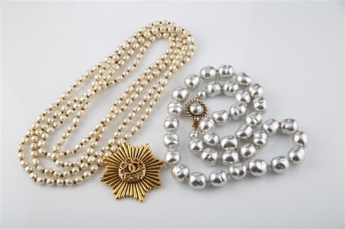 Lot of Three Chanel Costume Jewelry Pieces