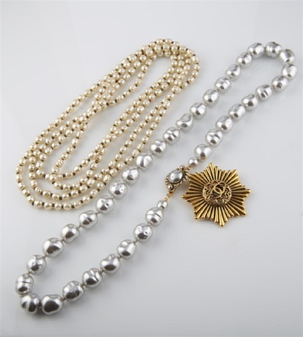 Lot of Three Chanel Costume Jewelry Pieces - 2