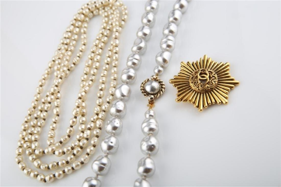 Lot of Three Chanel Costume Jewelry Pieces - 3