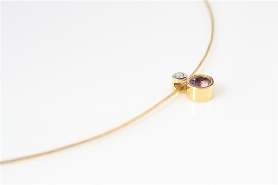 14k Yellow Gold Necklace with Diamond Pendant