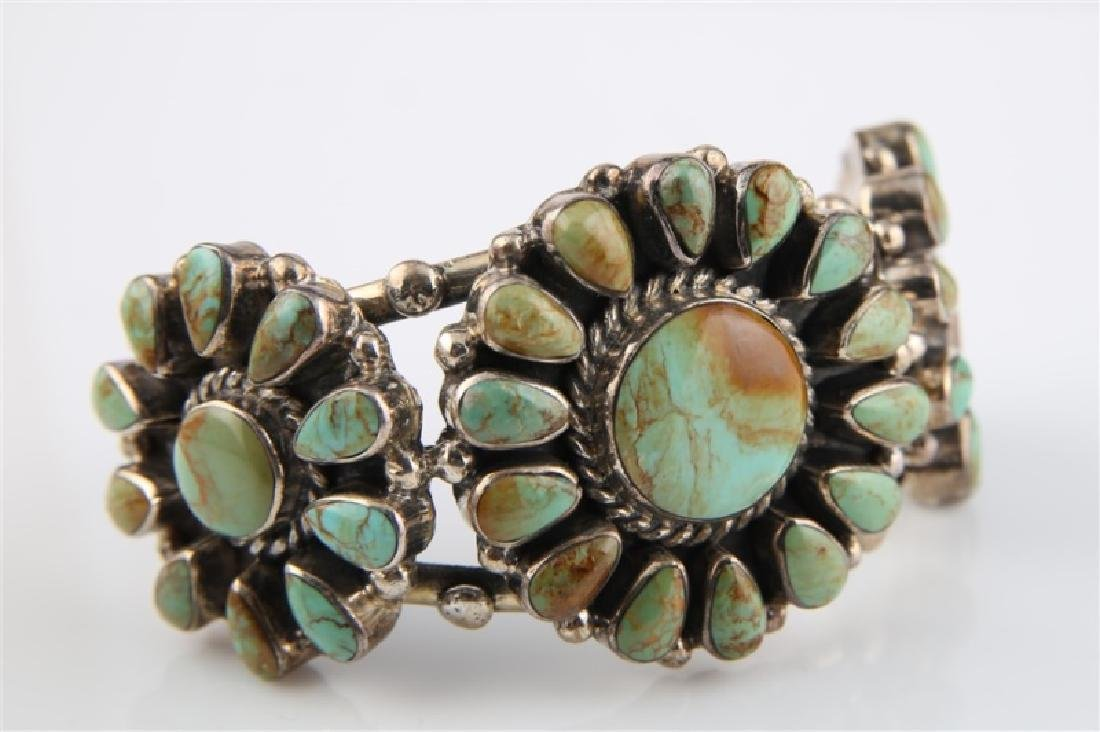 Sterling Silver and Turquoise Bracelet Large