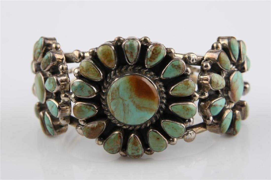 Sterling Silver and Turquoise Bracelet Large - 2