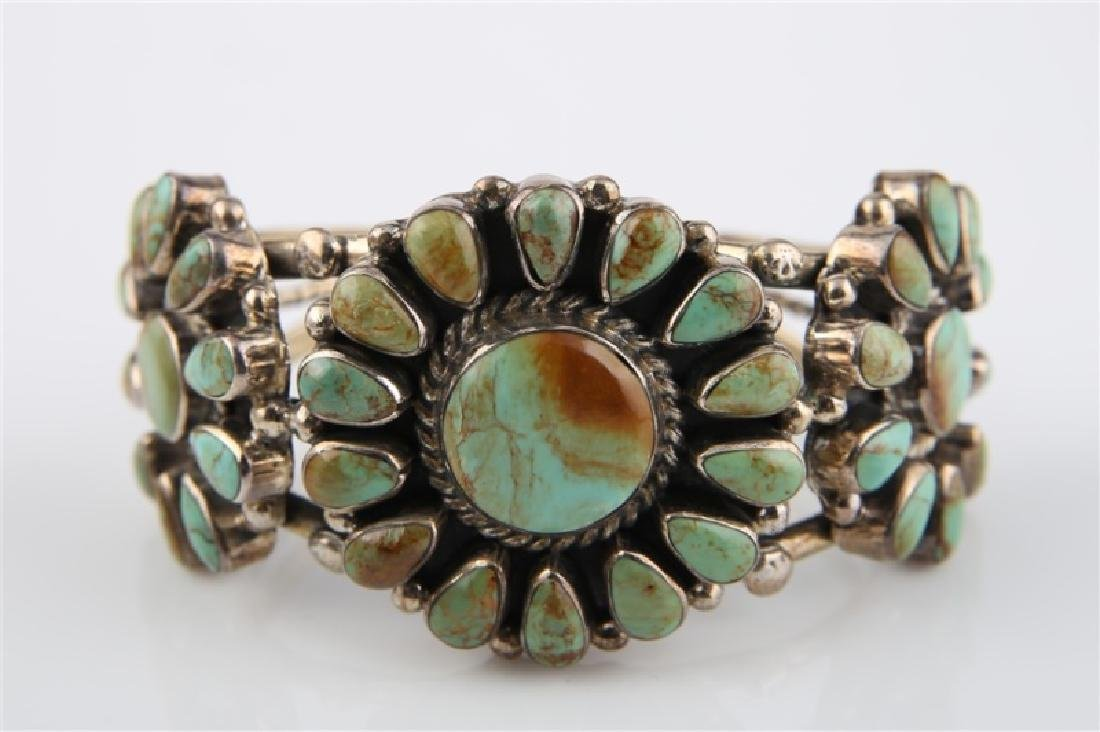 Sterling Silver and Turquoise Bracelet Large - 3