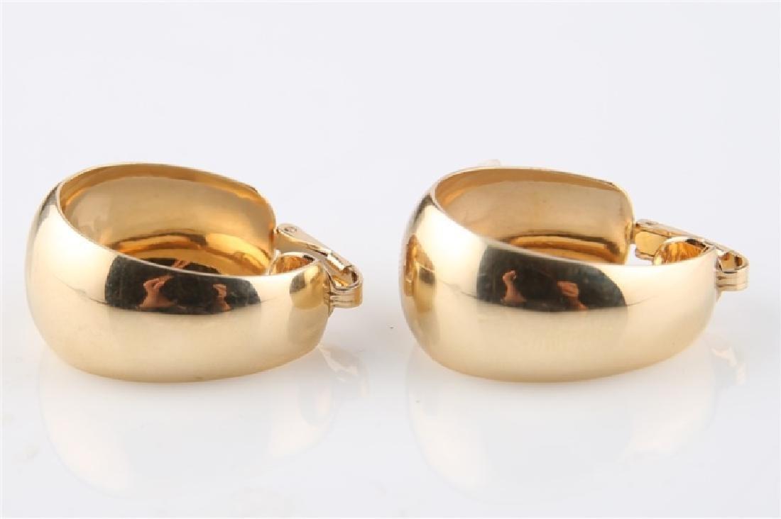 Pair of 14kt Yellow Gold Huggie Hoop Earrings