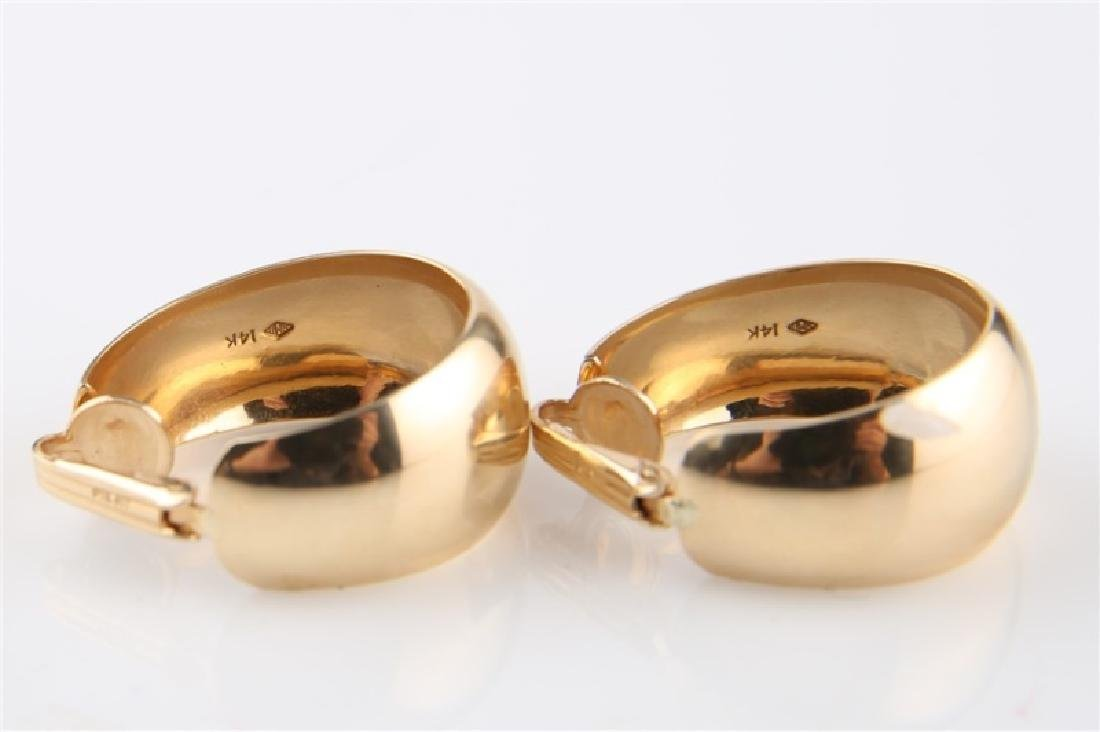 Pair of 14kt Yellow Gold Huggie Hoop Earrings - 2