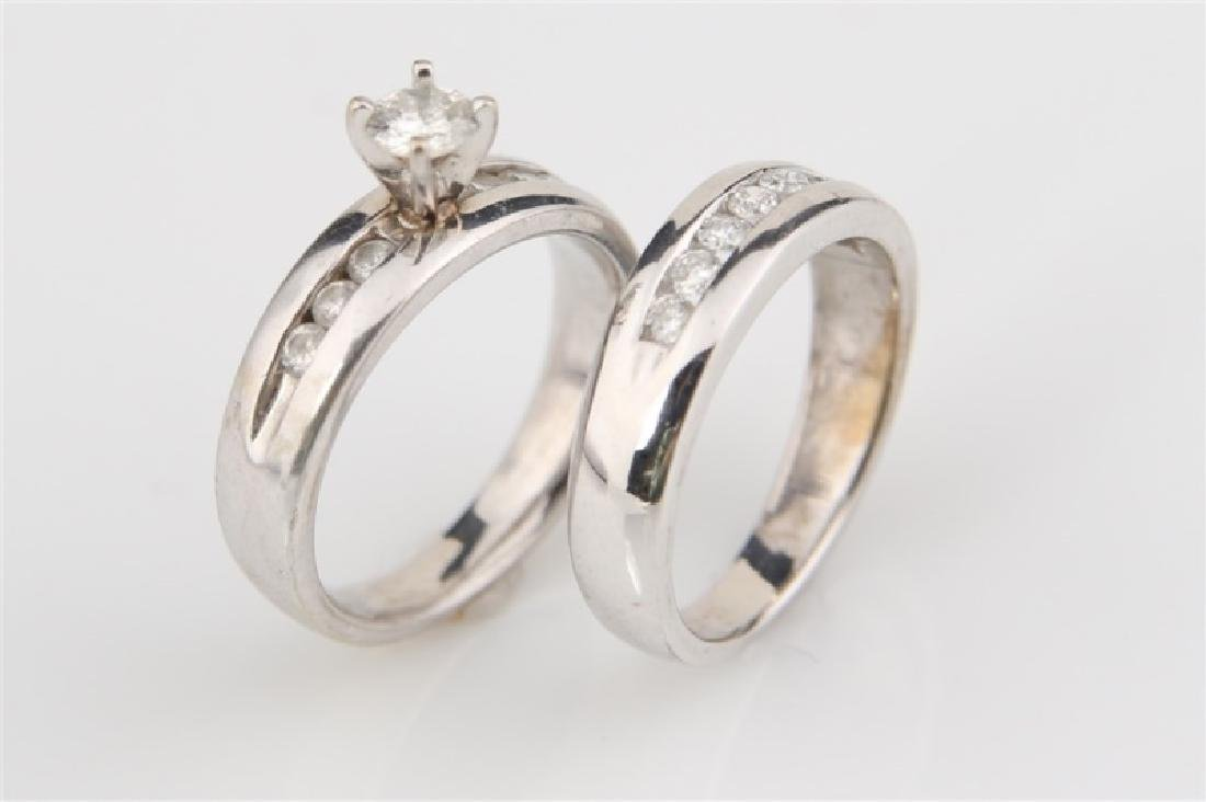 10k White Gold with Diamonds Wedding Set