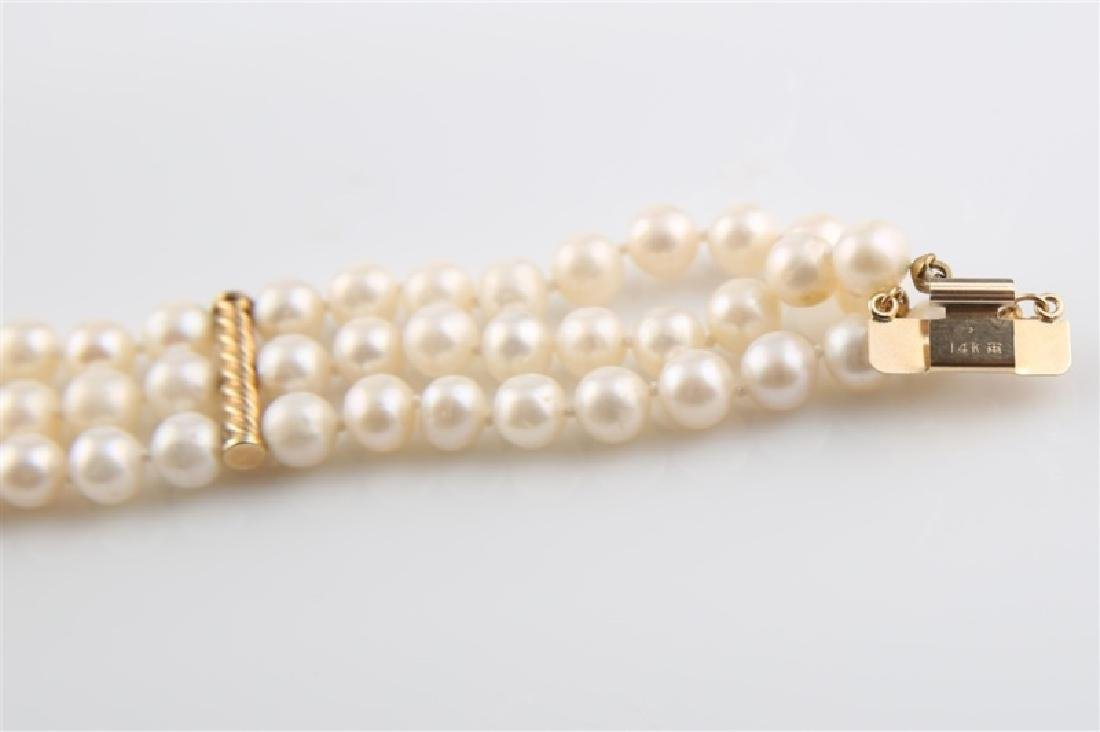 14kt Yellow Gold Pearl Bracelet - 3