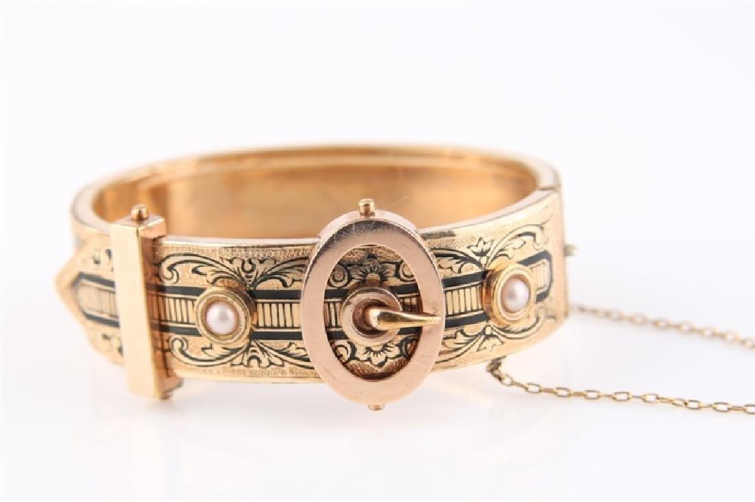 Gold-Filled Victorian Oval Buckle Bracelet