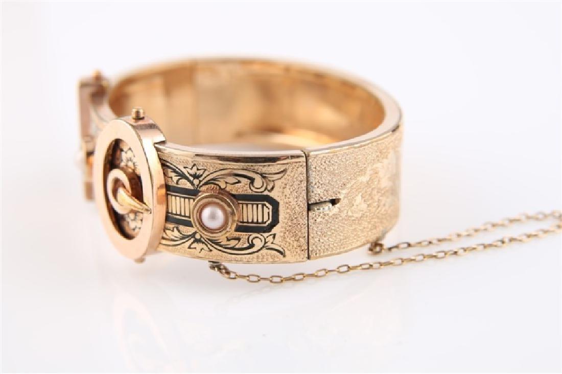 Gold-Filled Victorian Oval Buckle Bracelet - 2