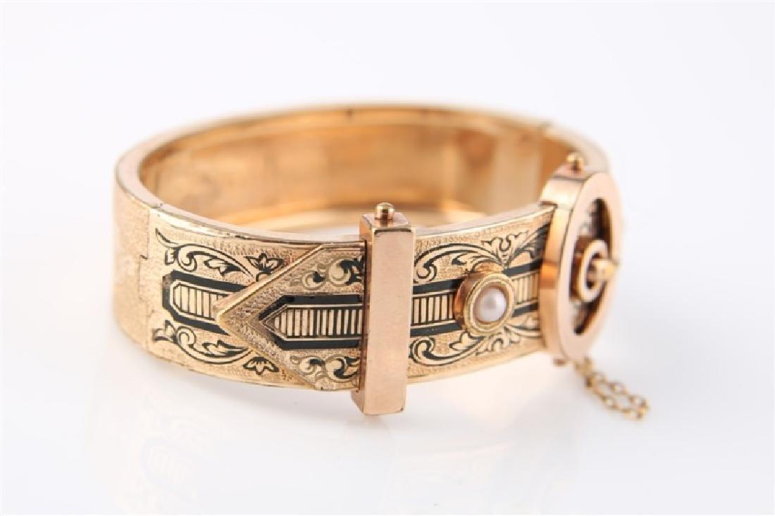 Gold-Filled Victorian Oval Buckle Bracelet - 3