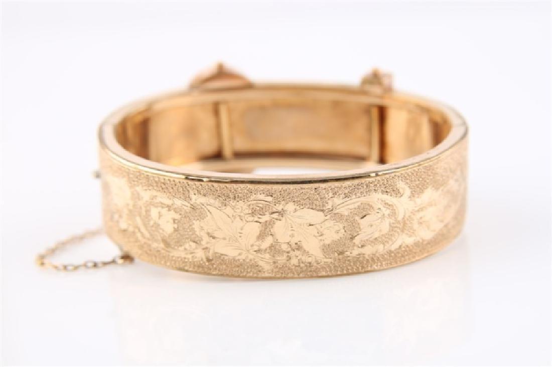 Gold-Filled Victorian Oval Buckle Bracelet - 4