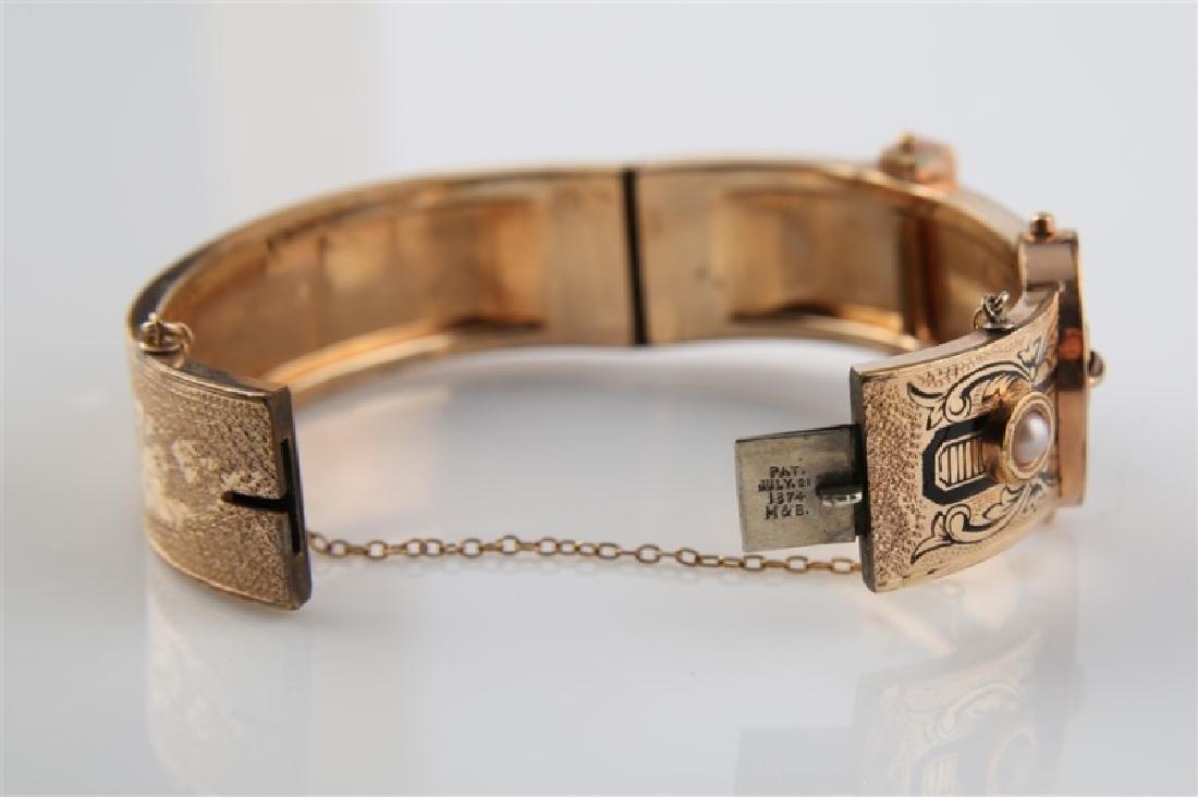 Gold-Filled Victorian Oval Buckle Bracelet - 6