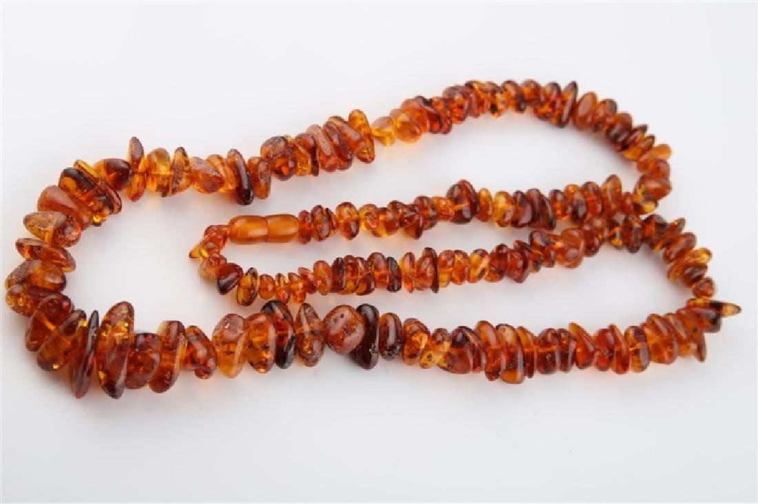 Amber Strand Necklace