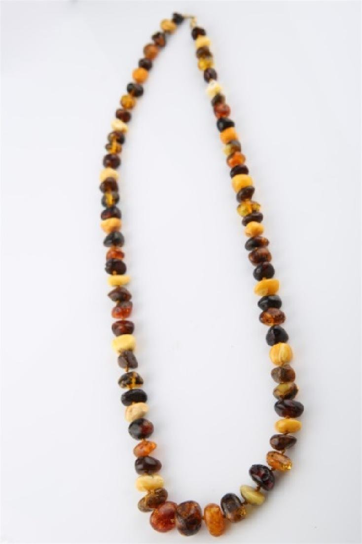 Butterscotch and Baltic Amber Necklace - 3