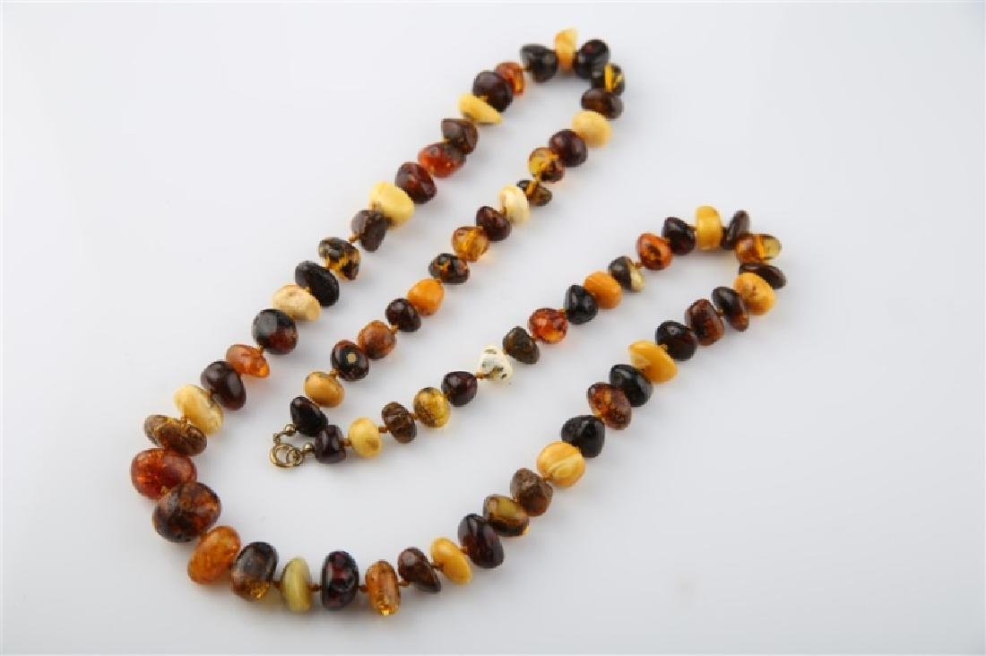 Butterscotch and Baltic Amber Necklace - 4
