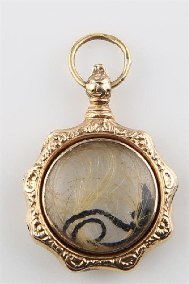 Fob Pendant with Lock of Hair
