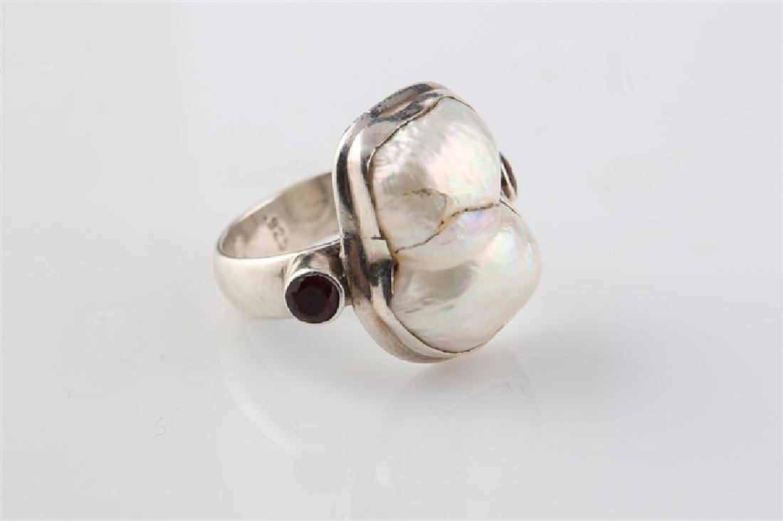 Sterling Silver and Pearl Ring - 2