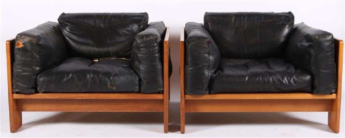 "Tobia Scarpa (Italian), Pair of ""Bastiano"" Chairs"