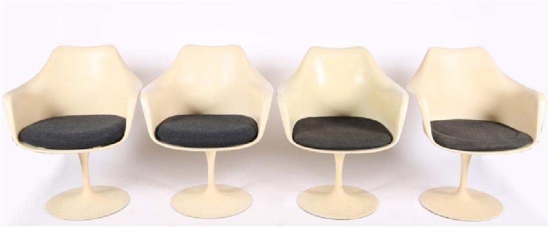 Set of Four Eero Saarinen for Knoll Tulip Chairs - 2