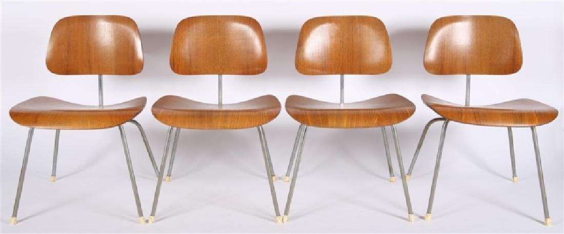 Eames for Herman Miller, Set of Four DCM Chairs - 2