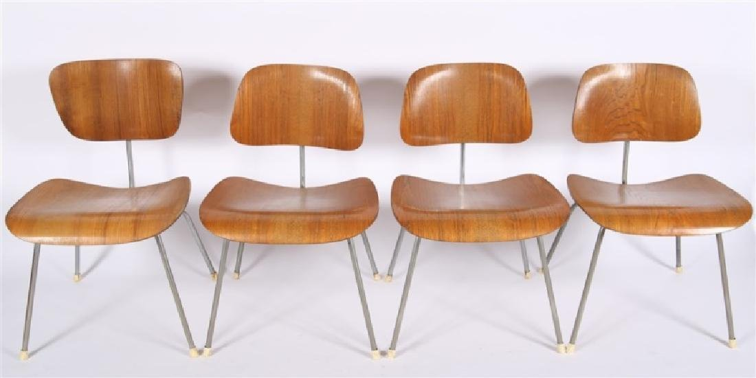 Eames for Herman Miller, Lot of Four DCM Chairs