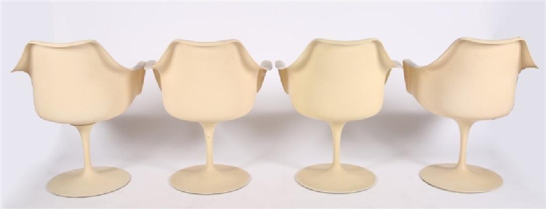 Lot of Four Eero Saarinen for Knoll Tulip Chairs - 5