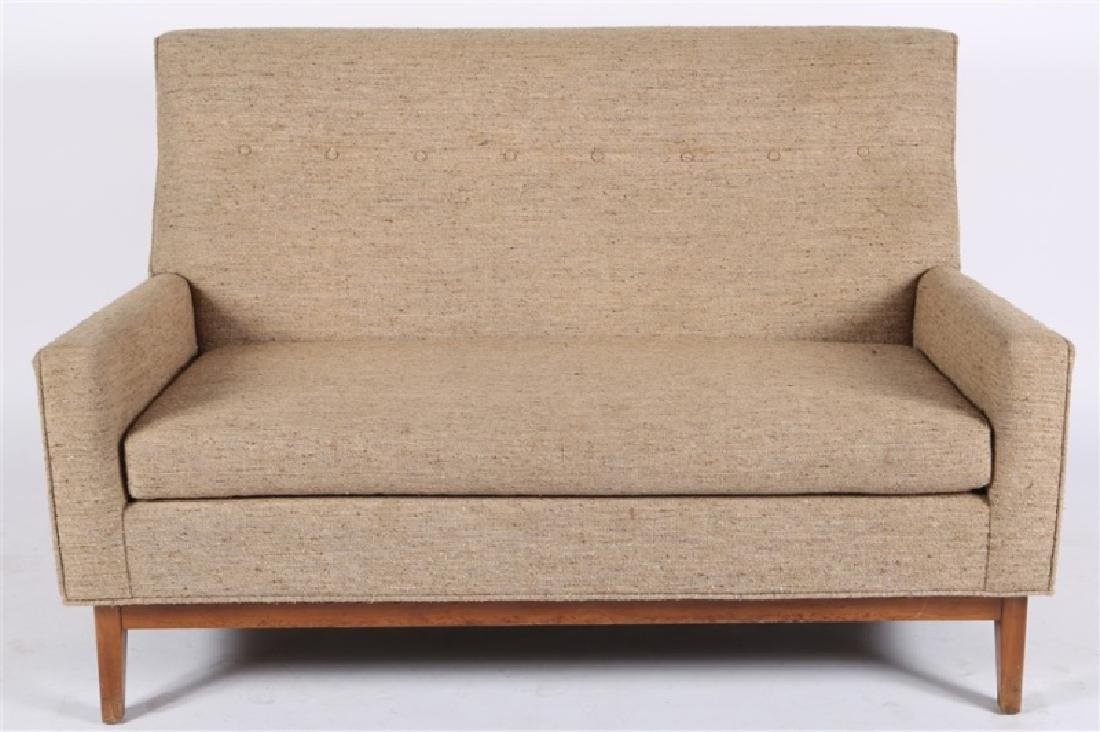Style of Edward Wormley, Upholstered Settee - 2
