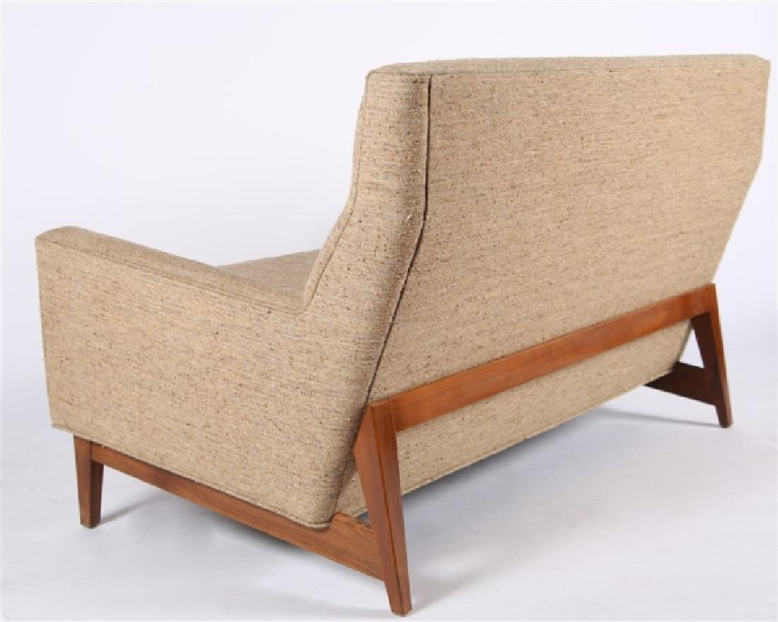 Style of Edward Wormley, Upholstered Settee - 5