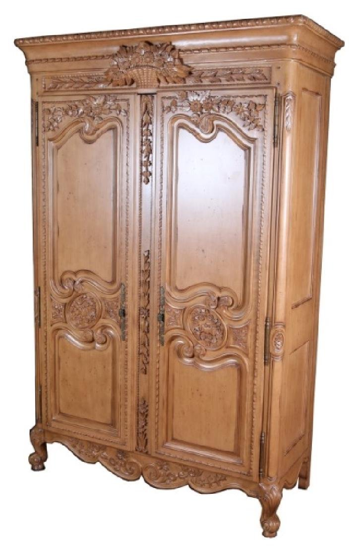 French-Style Wooden Armoire - 4