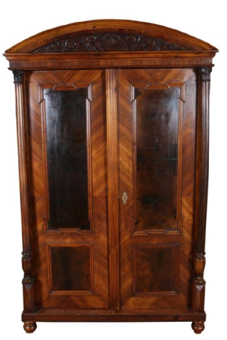American Walnut Mid-Victorian Armoire
