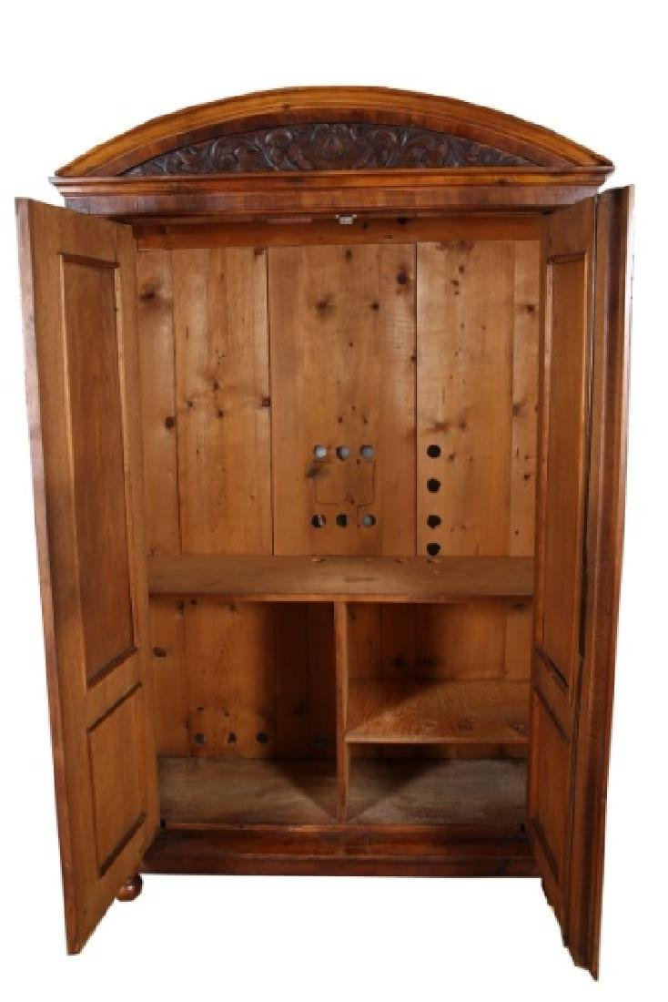 American Walnut Mid-Victorian Armoire - 2