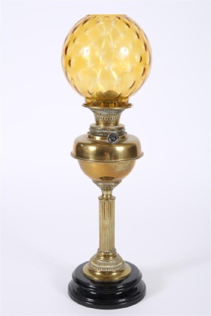 Young's Central Draught Victorian Oil Lamp - 2