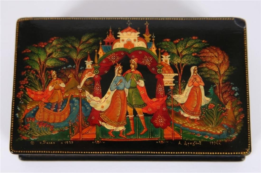 Palekh Russia, Hand Painted Lacquer Box