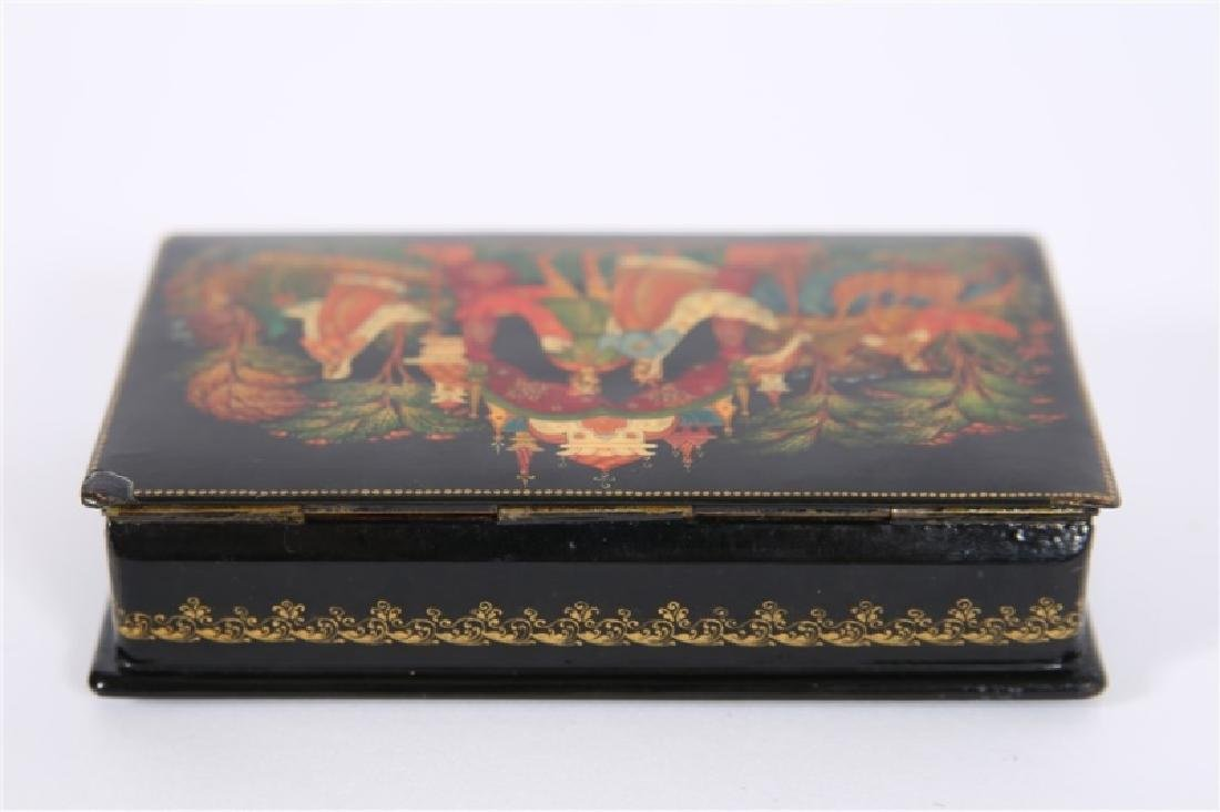 Palekh Russia, Hand Painted Lacquer Box - 4