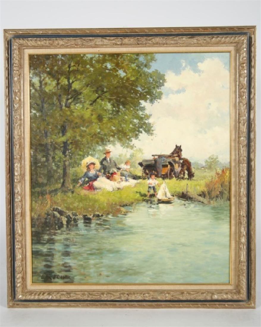 """Alexander Follak, """"Picnic at the Lake"""""""