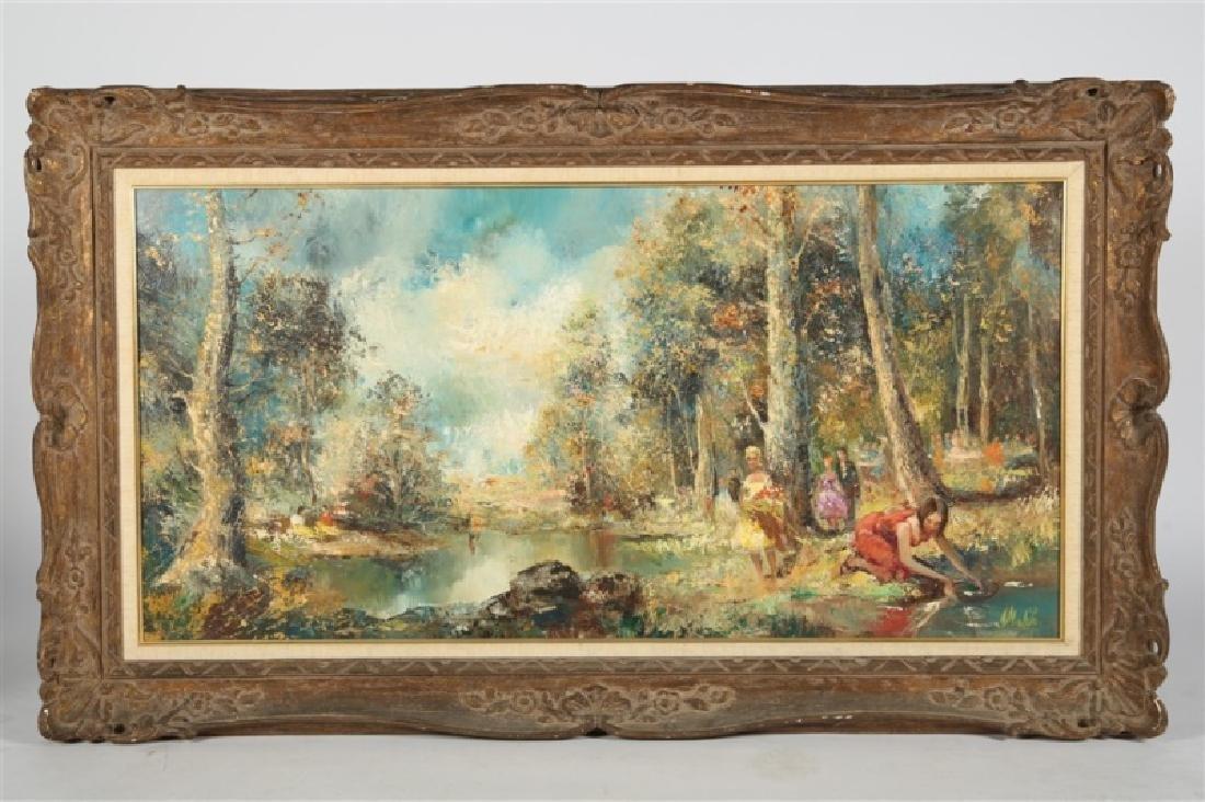 """Americo Makk (Hungarian), """"Woodland Landscape.."""""""