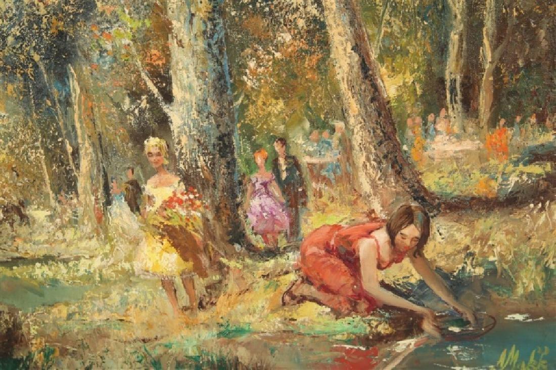 """Americo Makk (Hungarian), """"Woodland Landscape.."""" - 2"""