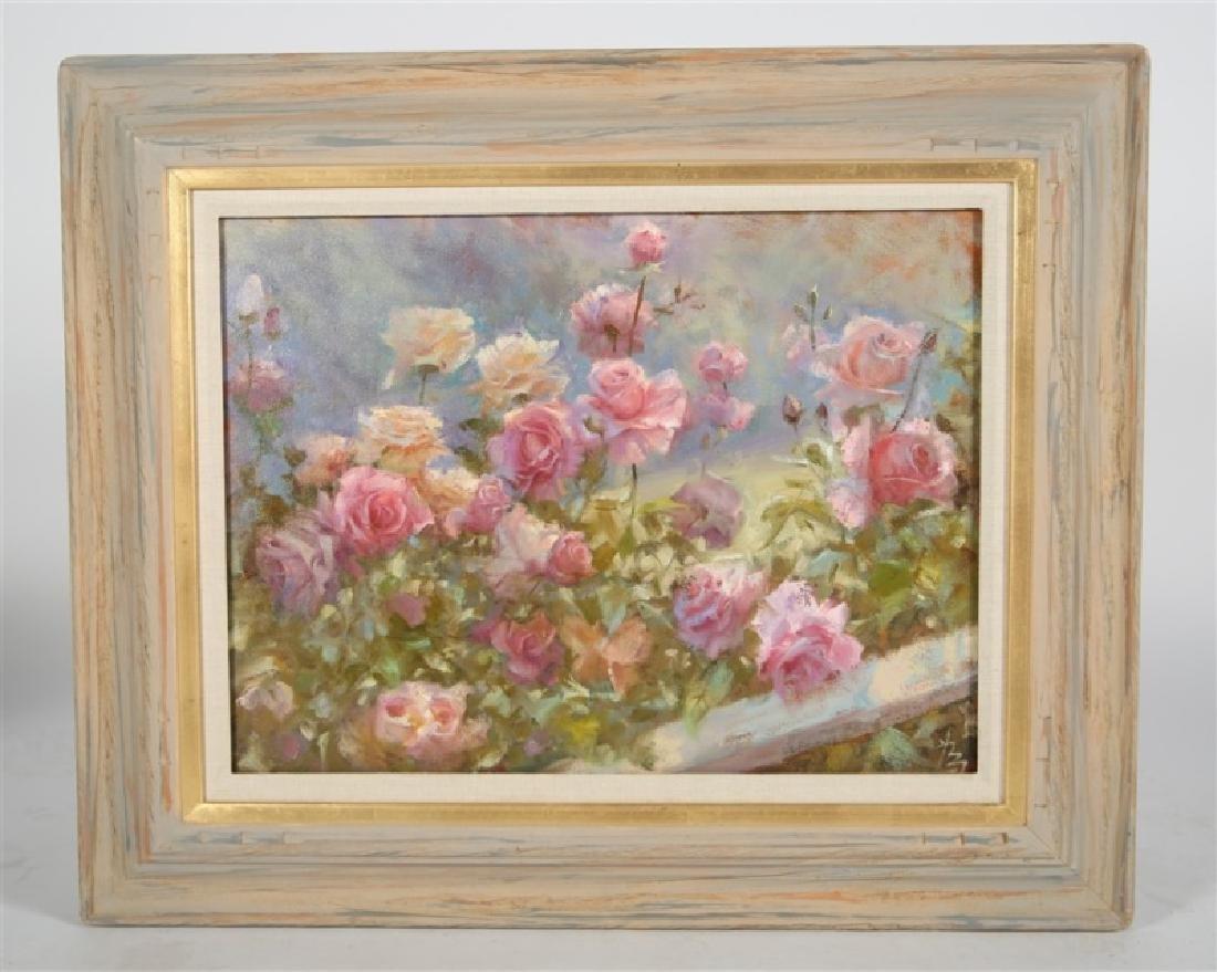 """Weizhen Liang (Chinese) """"Rose Garden in Morning"""""""