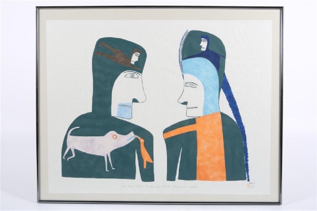 """Jessie Oonark, """"The Shaman Teaches the Woman ..."""""""