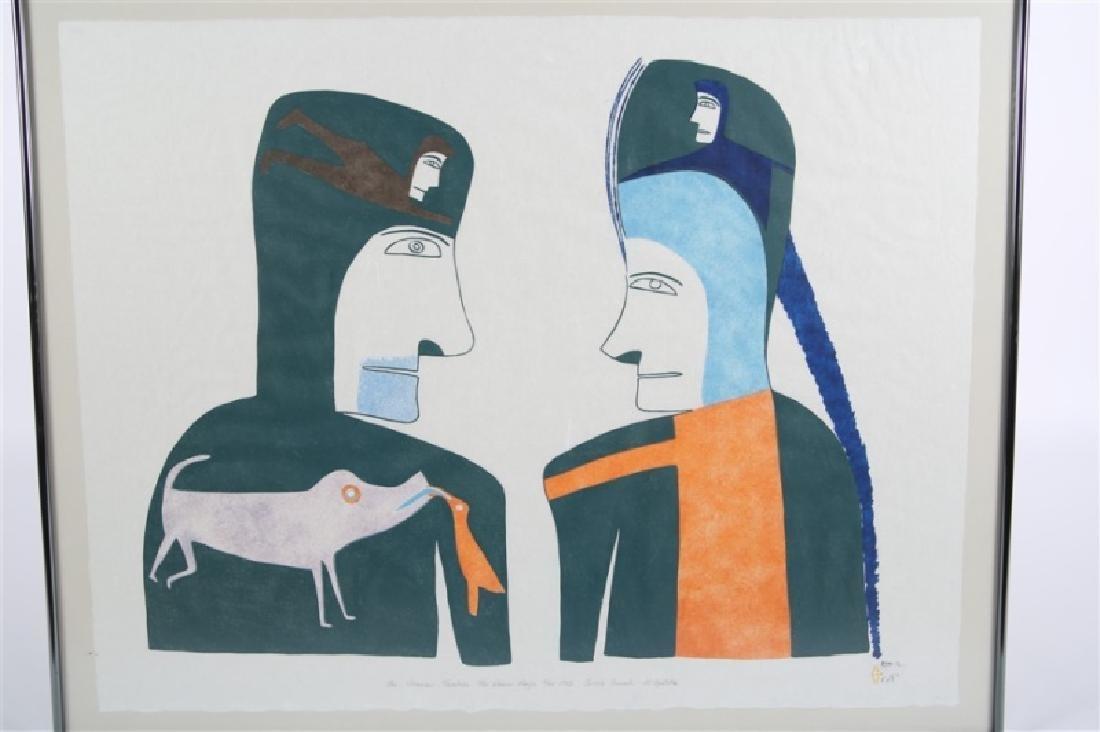 """Jessie Oonark, """"The Shaman Teaches the Woman ..."""" - 2"""