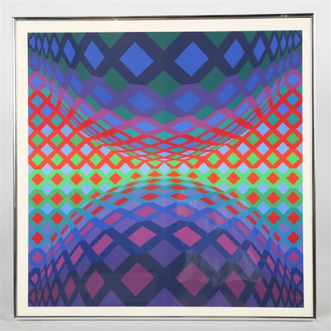 "Victor Vasarely (Hungarian-French), ""Reech"""