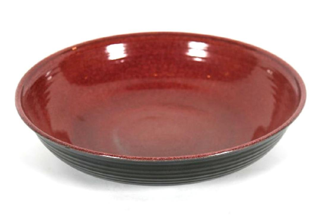 Winthrop Byers, Red & Black Ceramic Bowl